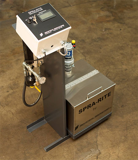 Industrial Innovations High Pressure, Airless Spra-Rite pedestal-style lubricating system