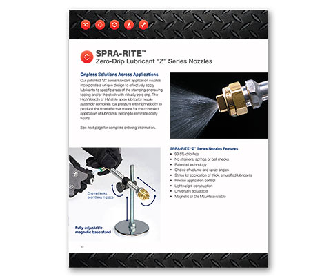 Download Industrial Innovations SPRA-RITE Z-Nozzles Catalog. For more information, please call us at 616-249-1525.
