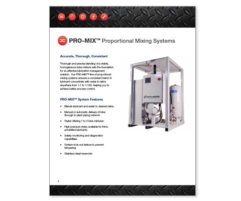 Download Industrial Innovations PRO-MIX Systems Catalog. For more information, please call us at 616-249-1525.