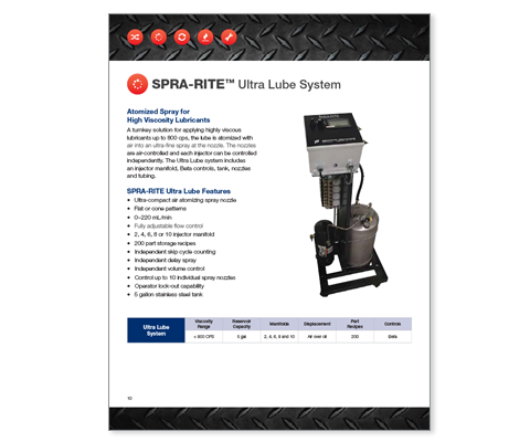 Download Industrial Innovations SPRA-RITE Ultra Lube Catalog. For more information, please call us at 616-249-1525.